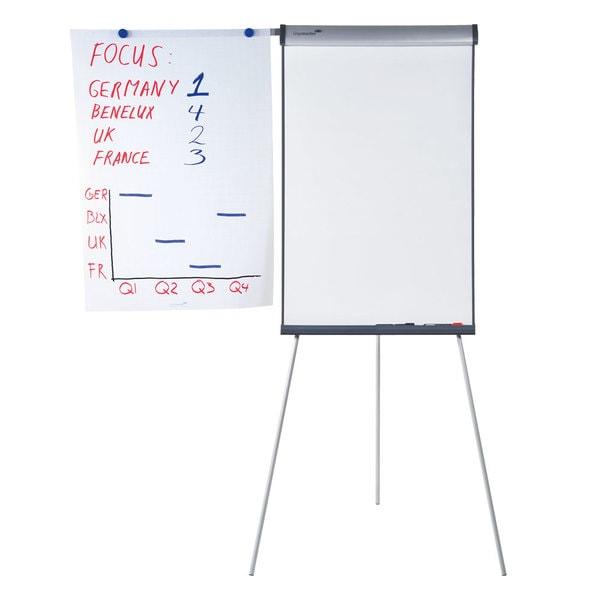 Flipchart cu tripod LEGAMASTER Triangle, 105 x 68 cm, alb