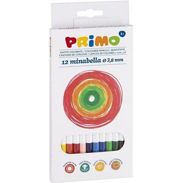 Creioane colorate MOROCOLOR Minabella, 12 culori