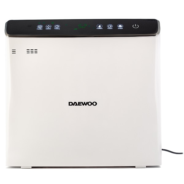 Purificator si umidificator aer DAEWOO DAP400, 75W, Hepa 13, Wi-Fi, alb-negru