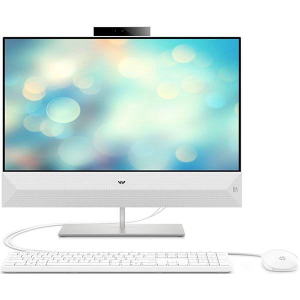 "Sistem PC All in One HP Pavilion 24-xa0014nq, Intel Core i5-9400T pana la 3.4GHz, 23.8"" Full HD, 8GB, SSD 256GB, Intel UHD Graphics 630, Free Dos, alb"