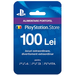 Card PSN (PlayStation Network) 100 lei