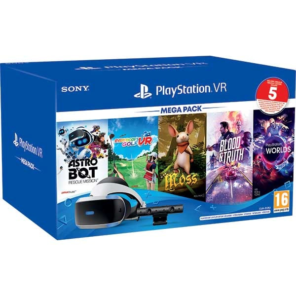 PlayStation VR Mega Pack 3 + Camera PS V2 + 5 jocuri