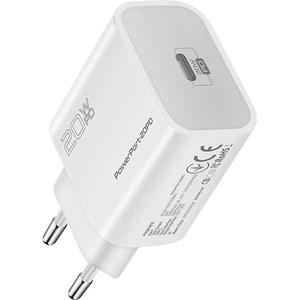 Incarcator retea PROMATE PowerPort-20PD, 1xType C, 20W, Power Delivery (PD), alb