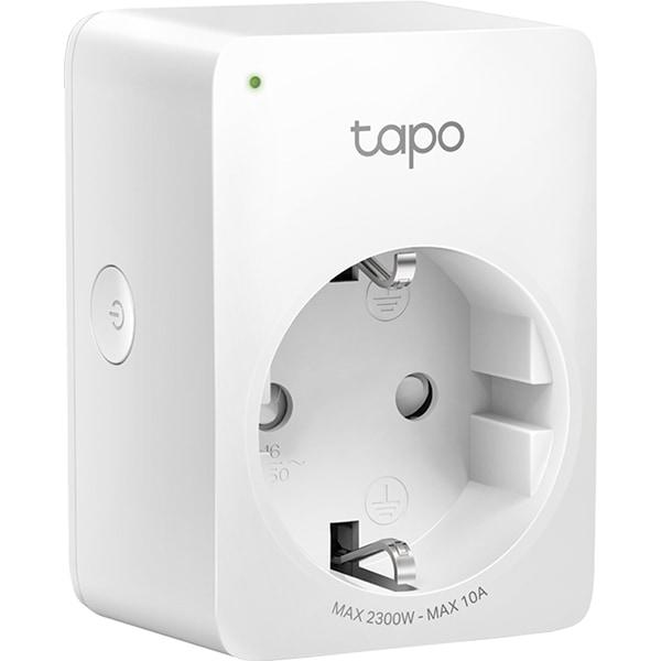 Priza smart TP-LINK Tapo P100, Wi-Fi, 2300W, 10A, alb