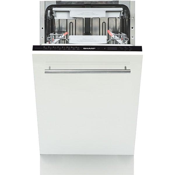 Masina de spalat vase incorporabila SHARP QW-GS52I452X, 10 seturi, 8 programe,  45 cm, clasa A++