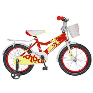 """Bicicleta copii RICH R1602A, 16"""", rosu-galben"""