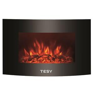 Semineu electric TESY WEF200SRELW TR, 2000W, Display LED, Telecomanda, negru