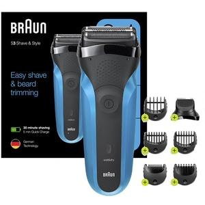 Aparat de ras BRAUN Series 3 Shave&Style 310BT, acumulator, autonomie 30 min, albastru-negru