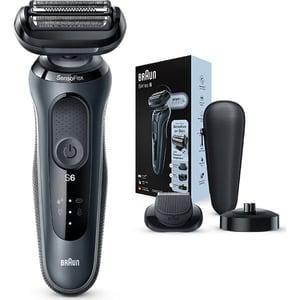 Aparat de ras BRAUN Series 6 60-N4500cs, acumulator, autonomie 50 min, Wet&Dry, negru