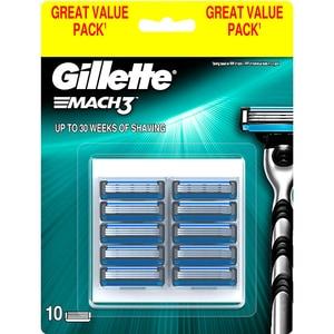 Rezerva aparat de ras GILLETTE Mach 3, 10 bucati