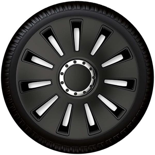 "Set capace roata PETEX Silverstone Pro Black, 14"""