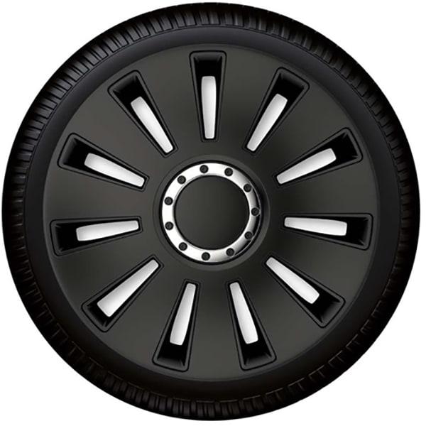 "Set capace roata PETEX Silverstone Pro Black, 17"""