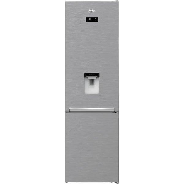 Combina frigorifica BEKO RCNA406E40DZXBN, NeoFrost, 362 l, H 203 cm, Clasa E, dozator apa, argintiu