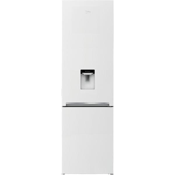 Combina frigorifica BEKO RCSA406K40DWN, 386 l, H 202.5 cm, Clasa E, dozator apa, alb