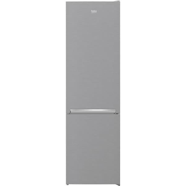Combina frigorifica BEKO RCSA406K40XBN, 386 l, H 202.5 cm, Clasa E, argintiu