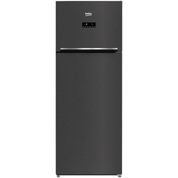 Frigider cu doua usi BEKO RDNE505E30ZXBRN, NeoFrost, 450 l, H 185 cm, Clasa F, negru