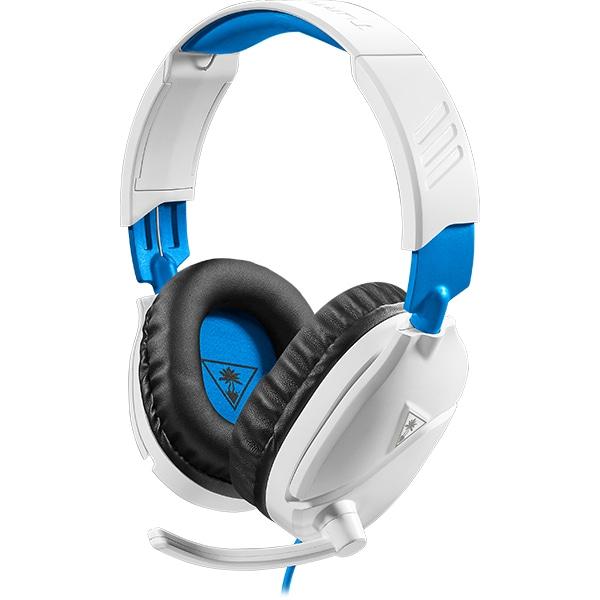 Casti Gaming TURTLE BEACH Recon 70P, multiplatforma, 3.5mm, alb-albastru