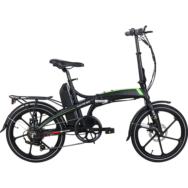 Bicicleta asistata electric pliabila RKS MX7, 20 inch, negru