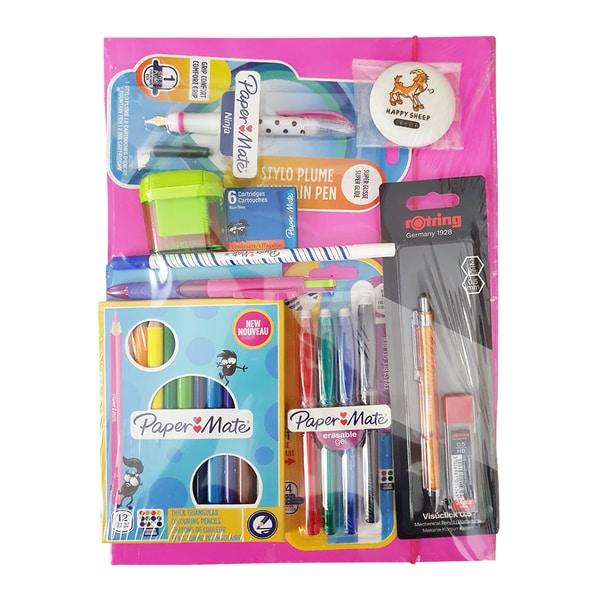 Set accesorii pentru clasele primare PAPERMATE RO509826, 9 piese