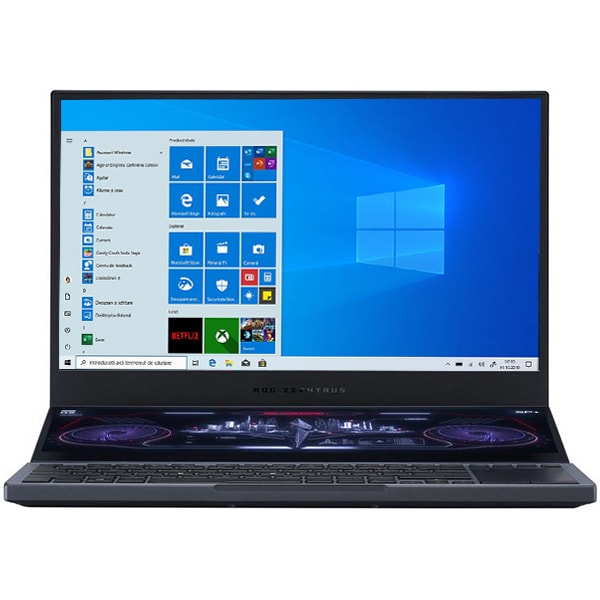 "Laptop Gaming ASUS ROG Zephyrus Duo 15 GX550LWS-HF059T, Intel Core i7-10875H pana la 5.1GHz, 15.6"" Full HD, 32GB, SSD 512GB + 512GB, NVIDIAGeForceRTX2070Super8GB, Windows 10 Home, gri inchis"