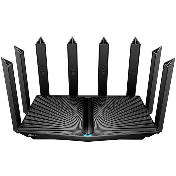 Router Wireless Gigabit TP-LINK Archer AX90 AX6600, Tri-Band 574 + 1201 + 4804 Mbps, USB 3.0, negru