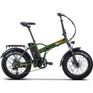Bicicleta electrica pliabila RKS RS-III, 20 inch, verde