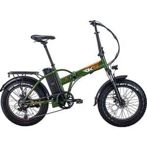 Bicicleta electrica pliabila RKS RSIV, 20 inch, verde