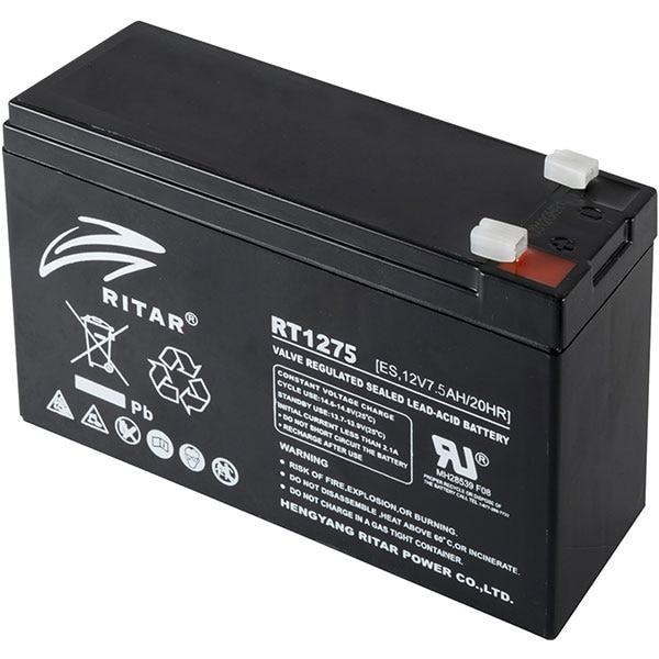 Acumulator cu plumb HOME RT 1275, 7.5Ah, 12V