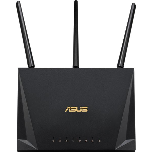 Router Wireless Gigabit ASUS RT-AC2400, Dual-Band 600 + 1733 Mbps, USB 3.0, negru