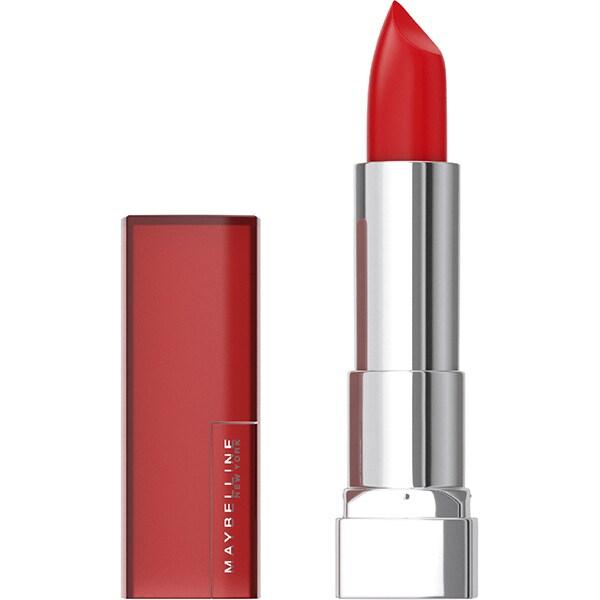 Ruj MAYBELLINE NEW YORK Color Sensational Creamy Mattes, 965 Siren in Scarlet, 5.7g