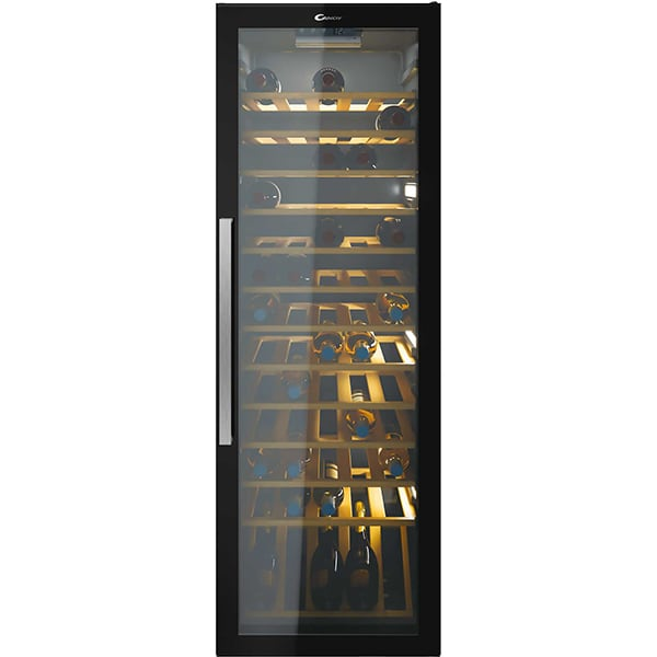 Racitor de vinuri CANDY CWC 200 EELW, Wi-Fi, 82 sticle, H 143.5 cm, Clasa A, negru
