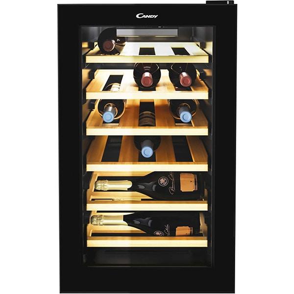 Racitor de vinuri CANDY CWCEL 210, 21 sticle, H 69.5 cm, Clasa B, negru