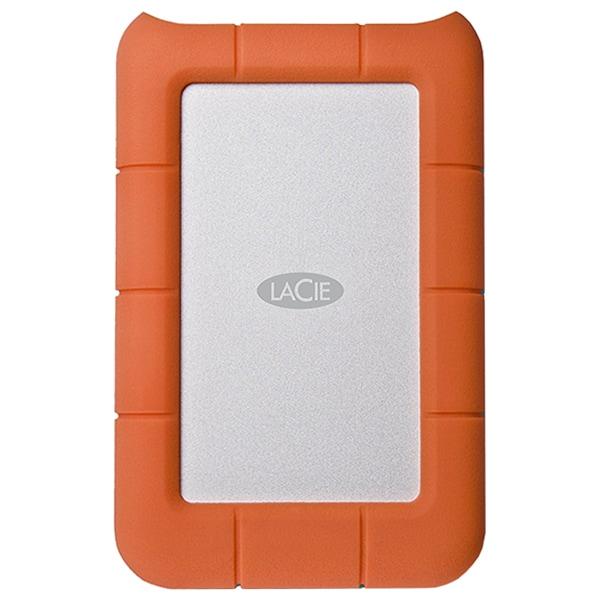 Hard Disk Drive portabil LACIE Rugged Mini LAC9000298, 2TB, USB 3.0, argintiu-orange