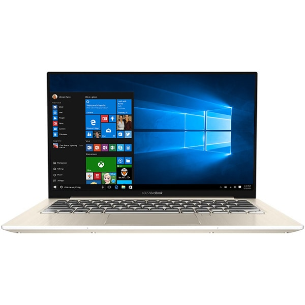 "Laptop ASUS VivoBook S13 S330UA-EY042T, Intel® Core™ i7-8550U pana la 4.0GHz, 13.3"" Full HD, 8GB, SSD 256GB, Intel UHD Graphics 620, Windows 10 Home, Gold"
