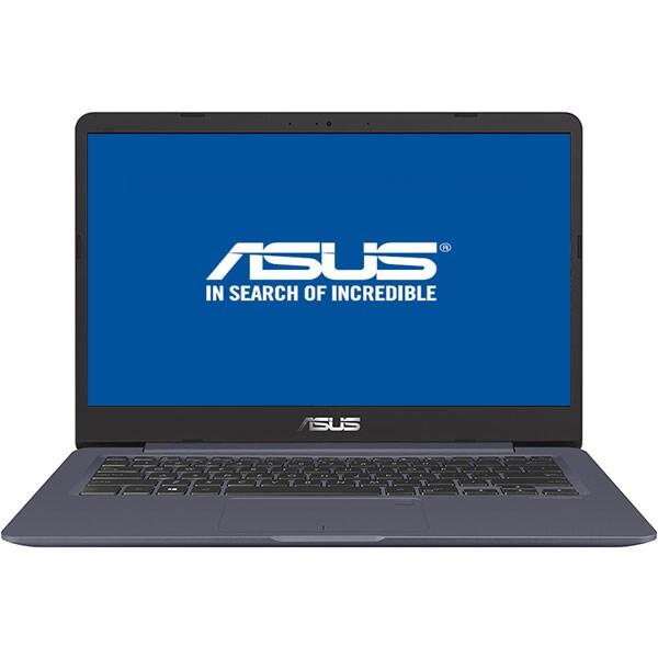 "Laptop ASUS VivoBook S406UA-BM013, Intel Core i5-8250U pana la 3.4GHz, 14.0"" Full HD, 8GB, SSD 256GB, Intel UHD Graphics 620, Endless, Star Grey"