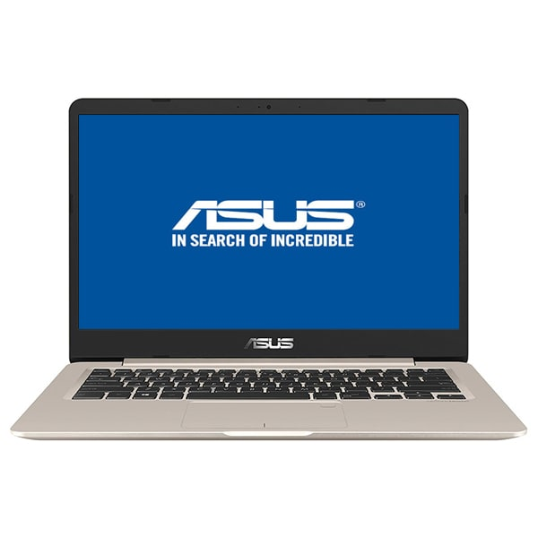"Laptop ASUS VivoBook S406UA-BM012, Intel® Core™ i5-8250U pana la 3.4GHz, 14.0"" Full HD, 8GB, SSD 256GB, Intel UHD Graphics 620, Endless, Gold"