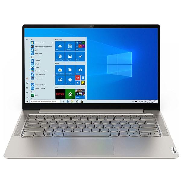 "Laptop LENOVO Yoga S740-14IIL, Intel Core i7-1065G7 pana la 3.9GHz, 14"" HDR UHD, 16GB, SSD 1TB, Intel Iris Plus Graphics, Windows 10 Home, Mica"