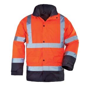 Jacheta de protectie COVERGUARD Sacla 4 in 1 Roadway, marimea L, portocaliu