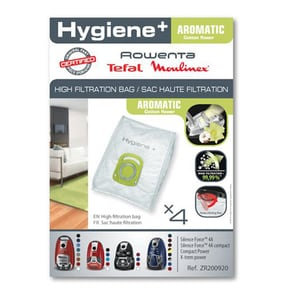 Set saci de aspirator ROWENTA Hygiene+ Aromatic ZR200920, 4 buc
