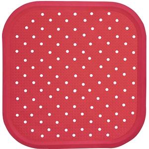 Covoras antiderapant pentru dus SANGER SANG13714, 56 x 56cm, rosu