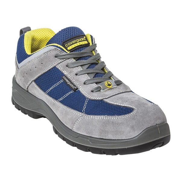 Pantofi de protectie COVERGUARD ESD S1P SRC, bombeu compozit, textil, marimea 41, gri-albastru