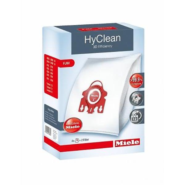 Kit MIELE HyClean 3D FJM: 4 saci + filtru motor + filtru evacuare
