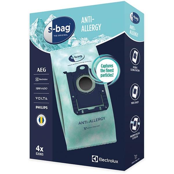 Set saci aspirator ELECTROLUX S-Bag Anti-Allergy E206S, 4 buc