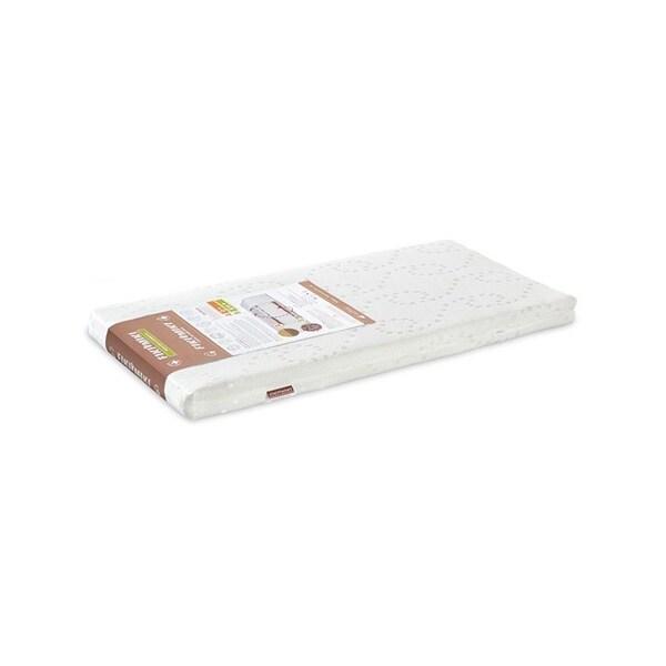 Set saltea FIKI MIKI Hrisca Komfort Lux + Perna plan inclinat F05146, husa detasabila, 120x60, alb