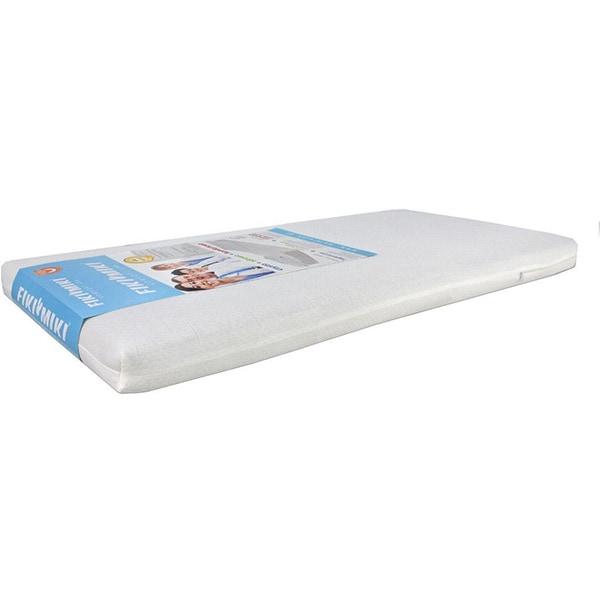 Saltea cocos FIKI MIKI Komfort Lux F05147, spuma poliuretanica si latex, husa detasabila, 95x65, alb