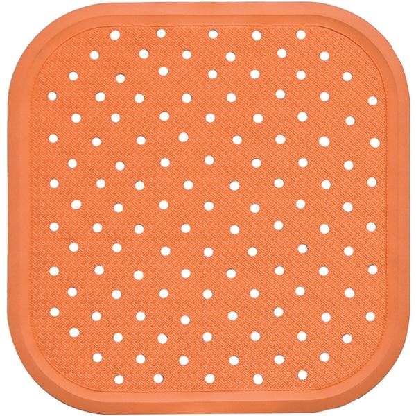 Covoras antiderapant pentru dus SANGER SANG13725, 56 x 56cm, portocaliu