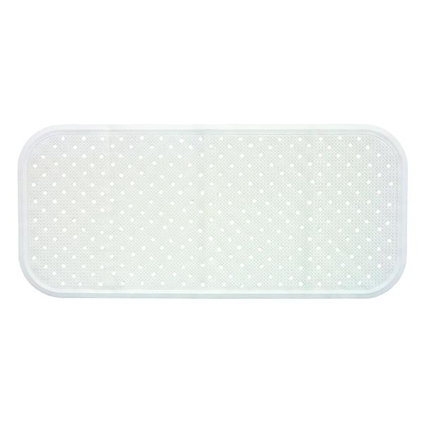 Covoras antiderapant pentru cada SANGER SANG13740, 76 x 34cm, alb
