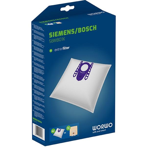 Kit WORWO SBMB01K: 4 saci + 1 filtru aspiratie