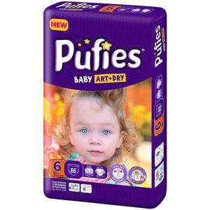 Scutece PUFIES Baby Art&Dry nr 6, Unisex, +13 kg, 66 buc