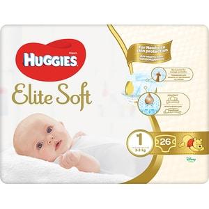 Scutece HUGGIES Elite Soft nr 1, Unisex, 3-5 kg, 26 buc